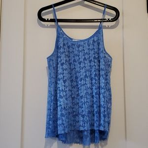 Blue lace top from Zara
